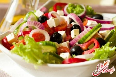 Greek salad with brynza