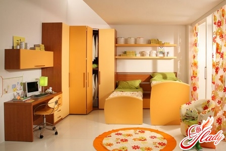 beautiful interior of a children's room for two boys