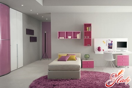beautiful interior of a children's room for a teenage girl