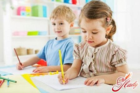 Preparing children for school in kindergarten