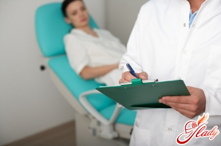 examination with a gynecologist