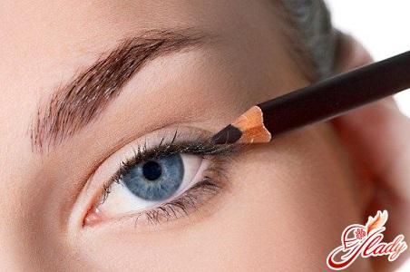 як фарбувати очі підведенням