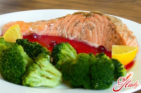 trout with vegetables