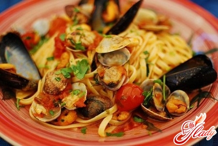 to cook pasta with seafood