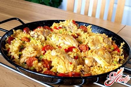 pilaf with seafood