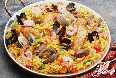 pilaf from seafood