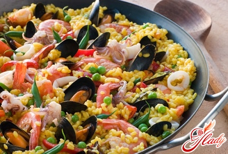 pilaf of seafood recipe