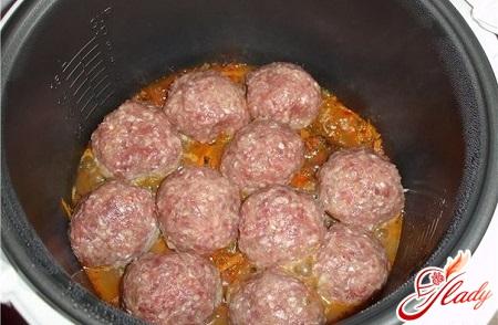 simple recipe for meatballs in a multivark