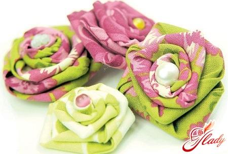 як зробити квіти з тканини своїми руками