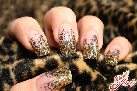 how to make a leopard manicure