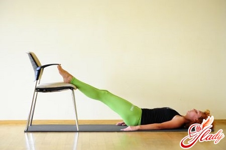 Exercise for pelvic muscles with a chair