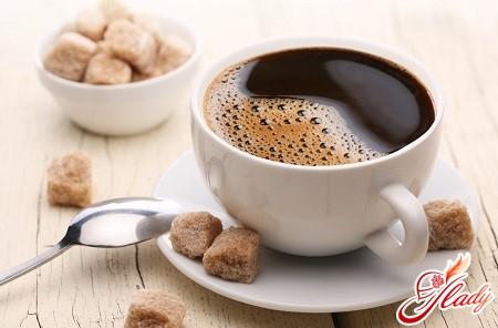 coffee in the coffee machine