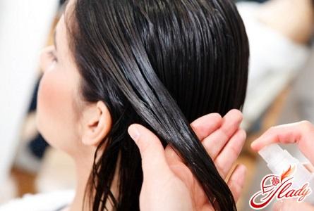 application of oil for hair