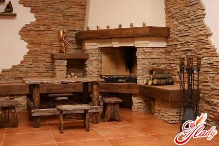 decorative stone in the interior