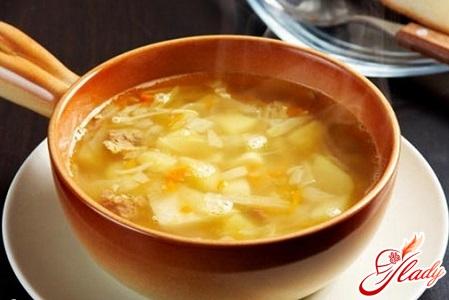 легкий капустяний суп