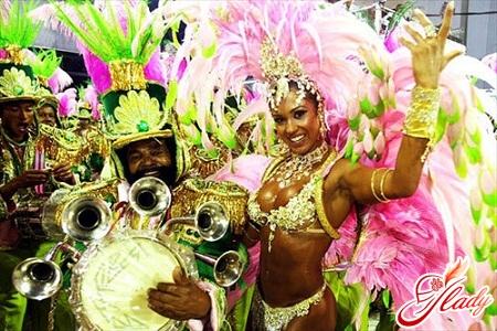 costumes at the Brazilian carnival