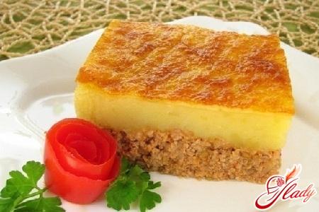 potato casserole with ground meat