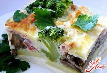 recipe for potato casserole with mushrooms