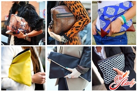 fashionable clutches with their own hands