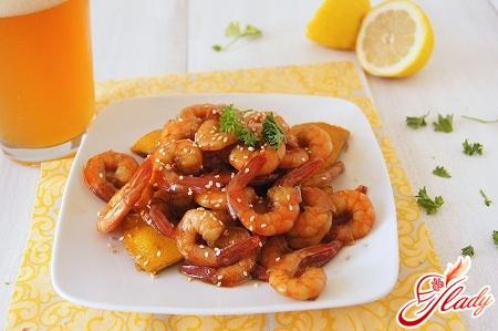 shrimp in soy sauce
