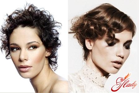 short haircuts on curly hair