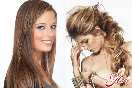 different braiding of braids for long hair