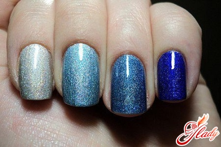 bright beautiful manicure with your hands