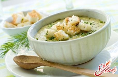 крем суп з капусти