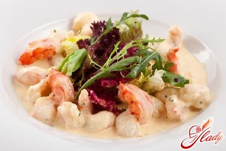 shrimp in creamy garlic sauce