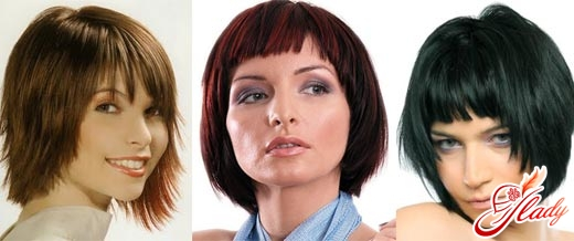 selection of haircuts for a round face