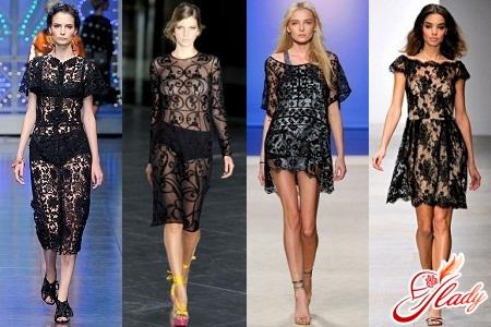 black lace dress fashion 2012
