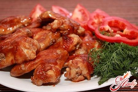 wings in honey sauce