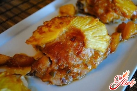 chicken with pineapple in the oven