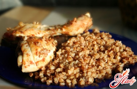 recipe chicken with buckwheat in the oven