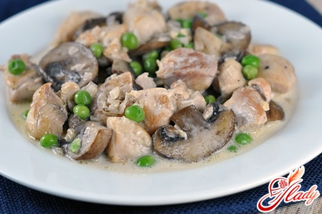 chicken with champignons