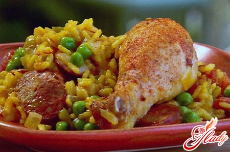 delicious chicken with rice in the oven