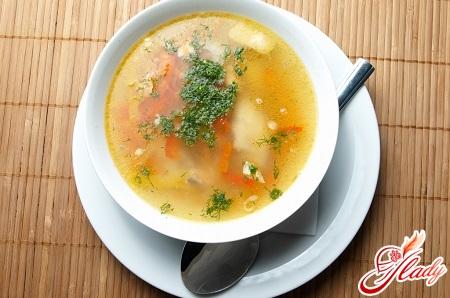 суп з курячими галушками