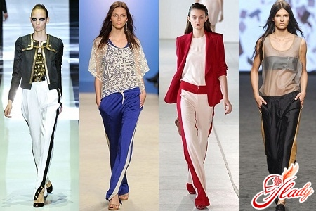 women's trousers with stripes