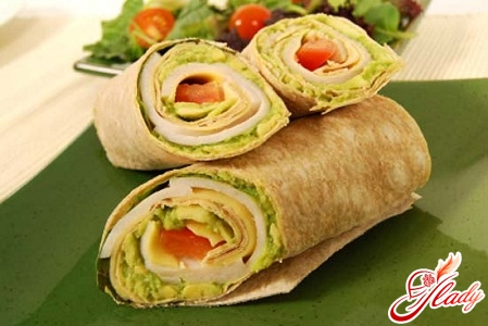 lavash roll with salmon