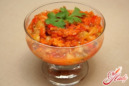 delicious lecho with rice