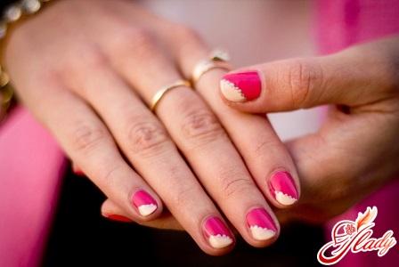manicure on short nails