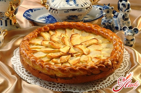 delicious lazy pie with apples