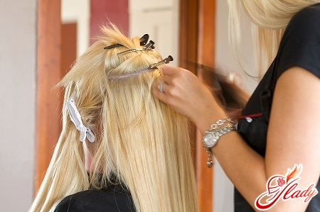 technology of hair extensions with ribbons