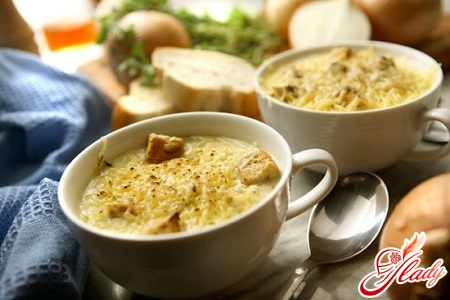 different recipes of onion soup