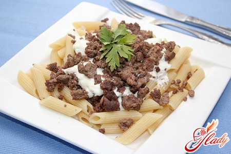 different recipes of pasta in navy