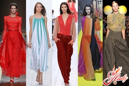 Fashionable colors and cut in clothes 2016 spring summer