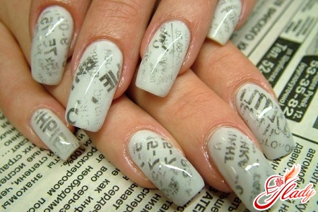 how to do a manicure from the newspaper