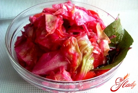 marinating cabbage with beets