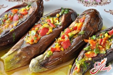 stuffed eggplants with vegetables