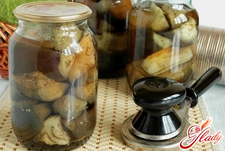 pickling of aubergines for the winter